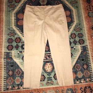 NWT Ann Taylor Beige Signature Fit Trouser Pants